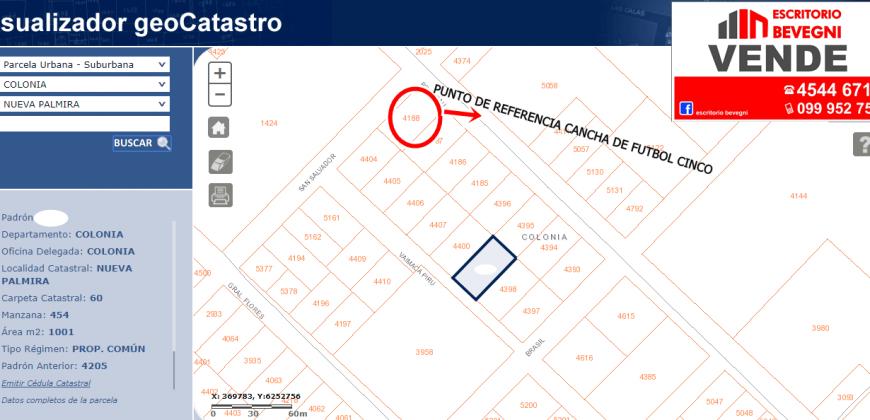 TERRENOS EN CALLE VAIMACAPIRU ENTRE SAN SALVADOR Y BRASIL